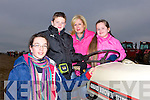 PLOUGHING: Going ploughing on Sunday at the Abbeydorney Ploughing competition on Sunday in Abbeydorney, L-r: Niamh Hanafin (Spa), Thomas,Ellen and Sarah Healy (Ballyheigue)........... . ............................... ..........