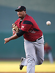 Sacramento River Cats&rsquo; Adalberto Mejia pitches against the Reno Aces at Greater Nevada Field in Reno, Nev., on Tuesday, July 26, 2016.  <br />Photo by Cathleen Allison
