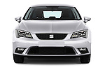 Car photography straight front view of a 2015 Seat Leon Style 5 Door Hatchback Front View