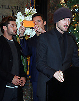 NEW YORK, NY - DECEMBER 9:  Zac Efron,Hugh Jackman, Michael Gracey,  pictured as the cast of The Greatest Showman attend the Empire State Building in New York City on December 9, 2017. Credit: RW/MediaPunch /nortephoto.com NORTEPHOTOMEXICO