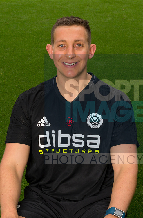 Lee Rikards of Sheffield Utd during the 2017/18 Photocall at Bramall Lane Stadium, Sheffield. Picture date 7th September 2017. Picture credit should read: Sportimage