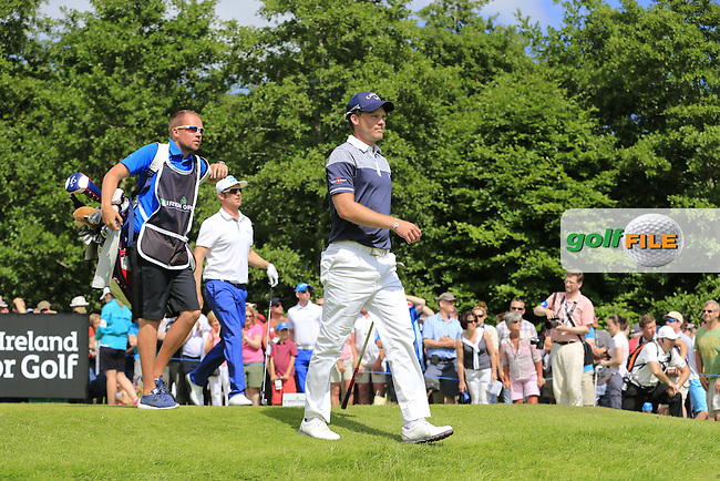 Danny Willett (ENG) walks off the 17th tee during Sunday's Final Round of the 2014 Irish Open held at Fota Island Resort, Cork, Ireland. 22nd June 2014.<br /> Picture: Eoin Clarke www.golffile.ie