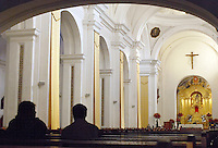 Inside La Merced Church in Antigua, a UNESCO World Heritage Site in Guatemala