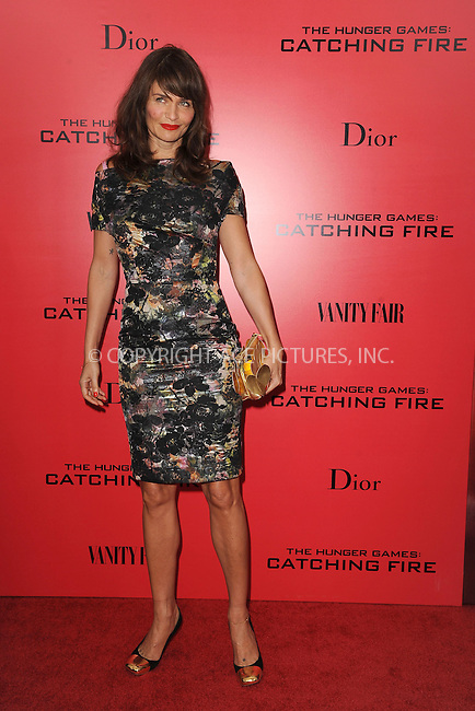 WWW.ACEPIXS.COM<br /> November 20, 2013...New York City<br /> <br /> Helena Christensen attending a premiere of 'The Hunger Games: Catching Fire' on November 20, 2013 in New York City.<br /> <br /> Byline: Kristin Callahan/Ace Pictures<br /> <br /> ACE Pictures, Inc.<br /> tel: 646 769 0430<br />       212 243 8787<br /> e-mail: info@acepixs.com<br /> web: http://www.acepixs.com