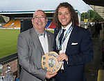 St Johnstone FC Player of the Year Awards...18.05.14<br /> We Are Perth Barossa Young Player of the Year Award to Stevie May presented by Gav Stewart<br /> Picture by Graeme Hart.<br /> Copyright Perthshire Picture Agency<br /> Tel: 01738 623350  Mobile: 07990 594431