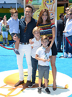 Lydia McLaughlin &amp; Family at the world premiere for &quot;The Emoji Movie&quot; at the Regency Village Theatre, Westwood. Los Angeles, USA 23 July  2017<br /> Picture: Paul Smith/Featureflash/SilverHub 0208 004 5359 sales@silverhubmedia.com