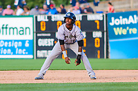 Kane County Cougars infielder Raymel Flores (1) during game one of a Midwest League doubleheader against the Wisconsin Timber Rattlers on June 23, 2017 at Fox Cities Stadium in Appleton, Wisconsin.  Kane County defeated Wisconsin 4-3. (Brad Krause/Krause Sports Photography)