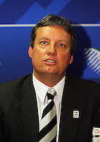 Rugby New Zealand (RNZ) 2011 Ltd CEO Martin Sneddon. 2011 Rugby World Cup Quarter-finals and Bronze Final Venue Announcement at the Rugby New Zealand 2011 offices, Wellington, New Zealand on Thursday, 4 September 2008. Photo: Dave Lintott / lintottphoto.co.nz