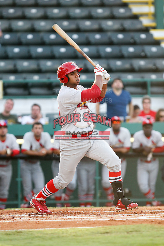 April 29, 2010 Infielder Osvaldo Morales of the Palm Beach Cardinals, Florida State League Class-A affiliate of the St.Louis Cardinals, during a game at McKenhnie Field in Bradenton Fl. Photo by: Mark LoMoglio/Four Seam Images