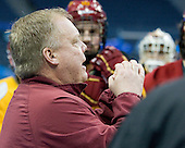 Bob Daniels (FSU - Head Coach) - The Ferris State University Bulldogs practiced on Friday, April 6, 2012, during the 2012 Frozen Four at the Tampa Bay Times Forum in Tampa, Florida.