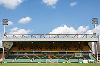General view of Carrow Road after Jamie's Game 2 Sellebrity Charity Football match at Norwich City FC, Norwich, England on 25 May 2014. Photo by Andy Rowland.