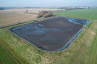 Stirring a digestate reservoir - Lincolnshire, February