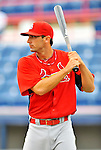 7 March 2012: St. Louis Cardinals infielder Matt Carpenter awaits his turn in the batting cage prior to a game against the Washington Nationals at Space Coast Stadium in Viera, Florida. The teams battled to a 3-3 tie in Grapefruit League Spring Training action. Mandatory Credit: Ed Wolfstein Photo