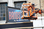Theatre Marquee installation for 'Bandstand'  starring Laura Osnes and Corey Cott at Bernard B. Jacobs Theatre on January 12, 2017 in New York City.