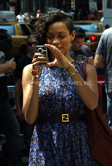 WWW.ACEPIXS.COM<br /> <br /> June 24 2013, New York City<br /> <br /> Actress Rosario Dawson on the set of the new movie 'Finally Famous' on June 24 2013 in New York City<br /> <br /> By Line: Zelig Shaul/ACE Pictures<br /> <br /> <br /> ACE Pictures, Inc.<br /> tel: 646 769 0430<br /> Email: info@acepixs.com<br /> www.acepixs.com