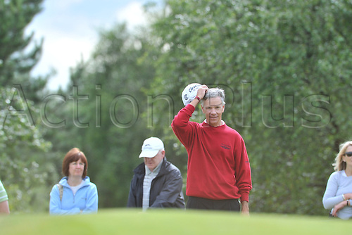 25/07/2010 Larry Mize (USA)  in action in the final round of the Mastercard British Senior Open Golf Championship on the Championship Course at Carnoustie, Angus, Scotland