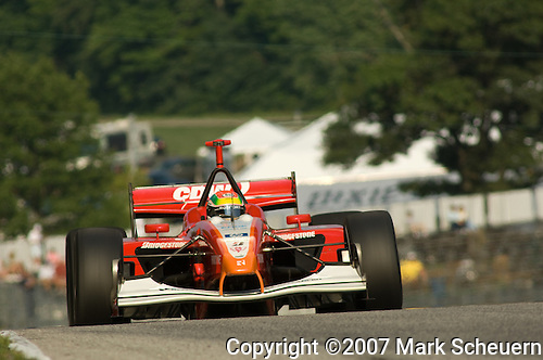 10 August 2007: Justin Wilson (XEN) at the Champ Car Generac Grand Prix at Road America, Elkahart Lake, WI.
