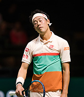 Rotterdam, The Netherlands, 14 Februari 2019, ABNAMRO World Tennis Tournament, Ahoy, quarter final, Kei Nishikori (JPN),<br /> Photo: www.tennisimages.com/Henk Koster