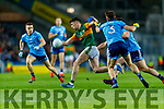 Paul Geaney, Kerry in action against David Byrne, Dublin during the Allianz Football League Division 1 Round 1 match between Dublin and Kerry at Croke Park on Saturday.