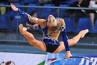 Elizaveta Nazarenkova of Russia performs with hoop at 2011 Holon Grand Prix at Holon, Israel on March 4, 2011.  (Photo by Tom Theobald).