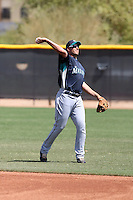 Alex Liddi of the Seattle Mariners plays in a minor league spring training game against the Kansas City Royals at the Royals minor league complex on March 26, 2011  in Surprise, Arizona. .Photo by:  Bill Mitchell/Four Seam Images.
