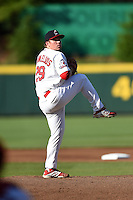 Springfield Cardinals pitcher Jonathan Cornelius (29) delivers a pitch during a game against the Frisco Rough Riders on June 1, 2014 at Hammons Field in Springfield, Missouri.  Springfield defeated Frisco 3-2.  (Mike Janes/Four Seam Images)