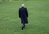 United States President Donald J. Trump walks out of the Diplomatic Entrance to speak to reporters as he prepares to depart the South Lawn of the White House in Washington, DC on Friday, April 5, 2019.  The President is traveling to Calexico, California, Los Angeles, California, and Las Vegas, Nevada. Photo Credit: Ron Sachs/CNP/AdMedia