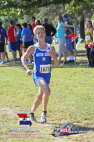 Notre Dame Rudy McClellan finished 5th in the 3A race to lead the Bulldogs to the team title.