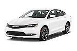 2015 Chrysler 200 S 4 Door Sedan 2WD Angular Front stock photos of front three quarter view
