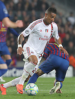 3.04.2012 Barcelona, Spain. UEFA Champions League , Quarter finals 2nd leg,       picture show  Prince in action  during match between FC Barcelona against AC MIlan AT Camp Nou