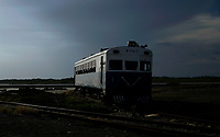CAIMANERA, CUBA - JUNE 6: Cuban people travel in train on June 6, 2018 in Caimanera, Cuba. Caimanera is a small town in Guantanamo province next to the U.S. Navy Base. The access is restricted for people who are not of the town, whoever to enter needs to ask for a permission by the Cuban government. (Photo by Eliana Aponte/VIEWpress)