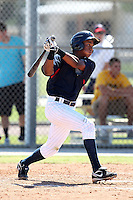 Minnesota Twins shortstop Jorge Polanco #12 during an Instructional League game against the New York Mets at Lee County Sports Complex on October 4, 2011 in Fort Myers, Florida.  (Mike Janes/Four Seam Images)