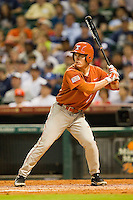 Jordan Etier #7 of the Texas Longhorns at bat against the Rice Owls at Minute Maid Park on March 2, 2012 in Houston, Texas.  The Longhorns defeated the Owls 11-8.  (Brian Westerholt/Four Seam Images)