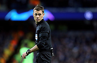 Referee Clement Turpin<br /> <br /> Photographer Rich Linley/CameraSport<br /> <br /> UEFA Champions League Round of 16 Second Leg - Manchester City v FC Schalke 04 - Tuesday 12th March 2019 - The Etihad - Manchester<br />  <br /> World Copyright © 2018 CameraSport. All rights reserved. 43 Linden Ave. Countesthorpe. Leicester. England. LE8 5PG - Tel: +44 (0) 116 277 4147 - admin@camerasport.com - www.camerasport.com