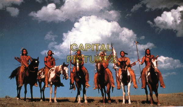 Dances with Wolves (1990) <br /> Michael Spears, Jason R Lone Hill, Tony Pierce &amp; Nathan Lee Chasing His Horse<br /> *Filmstill - Editorial Use Only*<br /> CAP/KFS<br /> Image supplied by Capital Pictures