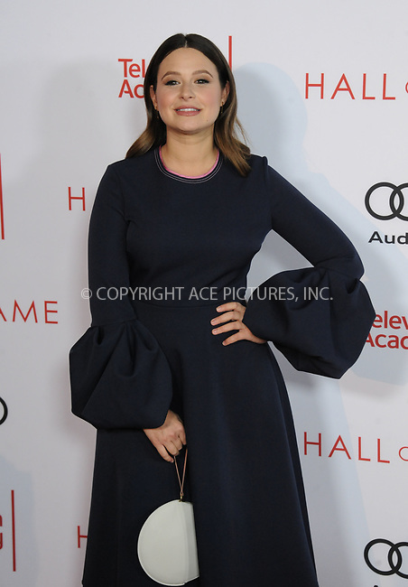 www.acepixs.com<br /> <br /> November 15 2017, LA<br /> <br /> Katie Lowes arriving at the Television Academy's 24th Hall of Fame Ceremony at the Saban Media Center on November 15, 2017 in Los Angeles, California.<br /> <br /> By Line: Peter West/ACE Pictures<br /> <br /> <br /> ACE Pictures Inc<br /> Tel: 6467670430<br /> Email: info@acepixs.com<br /> www.acepixs.com