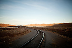 A private railroad runs through Lance Gilman's business park in McCarran, Nev., November 26, 2012.