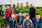 Pictured at the St Brendans v Kilmoyley County Hurling final in Abbeydorney on Sunday last were front l-r: Darragh, Paddy, Sean and Aaron Murnane.  Back l-r: Amy, Jackie, Sean, Maurice, Seanie, Tom and Tom Murnane.