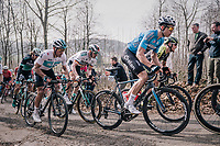 Wout Van Aert (BEL/V&eacute;randas Willems-Crelan) up the Baneberg<br /> <br /> 81st Gent-Wevelgem in Flanders Fields (1.UWT)<br /> Deinze &gt; Wevelgem (251km)