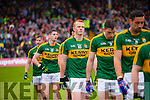 Johnny Buckley  Kerry players in the pre match parade before the Munster Final at Fitzgerald Stadium, Killarney on Saturday evening.