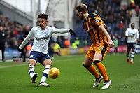 Callum Robinson of Preston North End crosses the ball during Preston North End vs Hull City, Sky Bet EFL Championship Football at Deepdale on 3rd February 2018