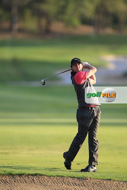 Rory McIlroy (NIR) during round one of the Abu Dhabi HSBC Golf Championship in the Abu Dhabi golf club, Abu Dhabi, UAE..Picture: Fran Caffrey/www.golffile.ie.