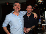 Eoghan O'Neill and Peter Nolan pictured at the 80's night in the Rugby club. Photo: Colin Bell/pressphotos.ie