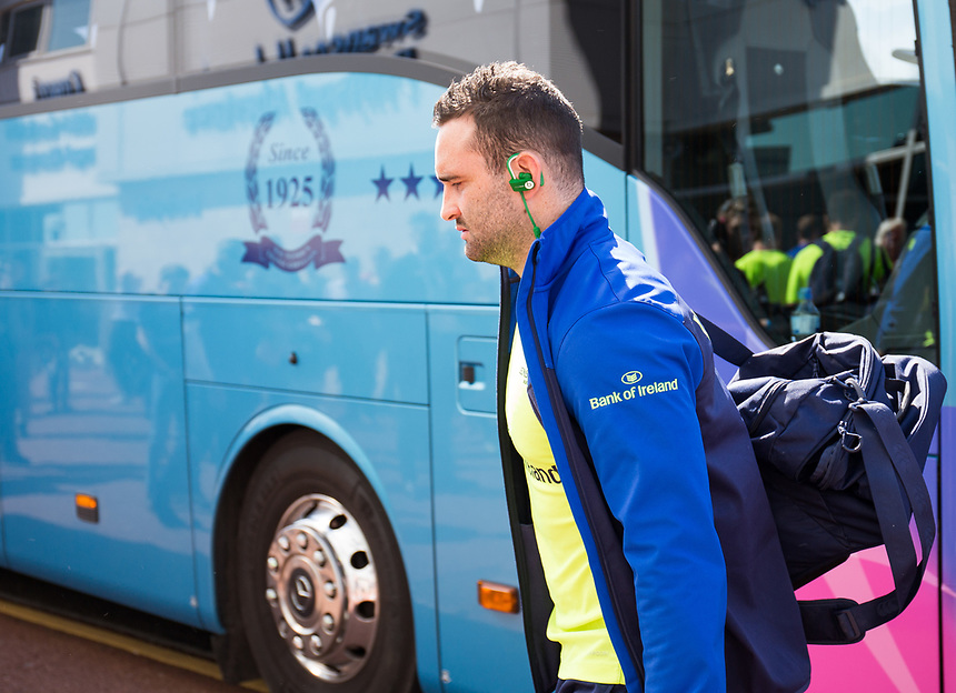 Leinster's Dave Kearney arrives at the stadium<br /> <br /> Photographer Simon King/CameraSport<br /> <br /> Guinness PRO12 Round 19 - Ospreys v Leinster Rugby - Saturday 8th April 2017 - Liberty Stadium - Swansea<br /> <br /> World Copyright &copy; 2017 CameraSport. All rights reserved. 43 Linden Ave. Countesthorpe. Leicester. England. LE8 5PG - Tel: +44 (0) 116 277 4147 - admin@camerasport.com - www.camerasport.com
