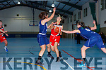Labhoise Walmsley Team Tom McCarthy's powers past  Maeve Deery and Rebecca Barker Belfast Phoenix on Saturday night in Castleisland