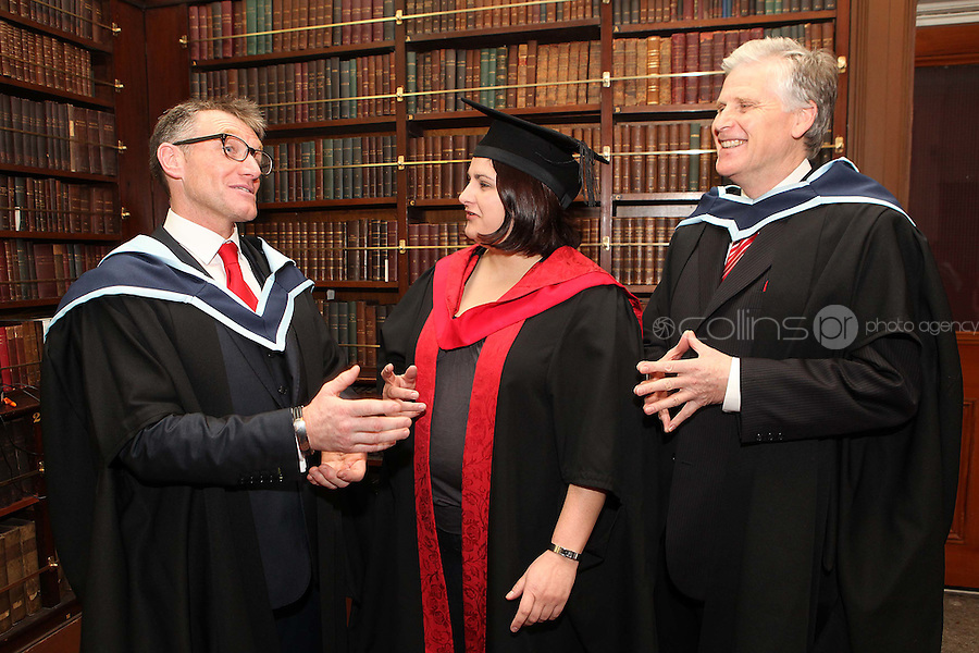 NO REPRO FEE. 25/11/2011. Independent College Dublin graduations. Pictured after graduating from Independent College Dublin are L-R Philip Smith from Drogheda MA Dispute Resolution, Eva Lehnhardt LLM from Baldoyle and Edward O Donovan from Clontarf MA Dispute Resolution . For more info please contact Annie Leger annie.leger@independentcolleges.ieT: +353 1 635 5811Picture James Horan/Collins.