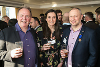 From left are Paul Ritchie of Foremost Security with Turner & Townsend's Emily Thorpe-Jones and Mark Deakin