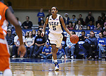 21 December 2007: Duke's Jasmine Thomas. The Duke University Blue Devils defeated the Bucknell University Bisons 92-49 at Cameron Indoor Stadium in Durham, North Carolina in an NCAA Division I Women's College Basketball game.