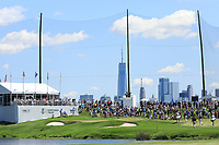General View 4th green in action during the final round of the Northern Trust played at Liberty National Golf Club, Jersey City, USA. 11/08/2019<br /> Picture: Golffile | Phil INGLIS<br /> <br /> All photo usage must carry mandatory copyright credit (© Golffile | Phil INGLIS)