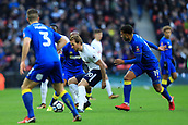 7th January 2018, Wembley Stadium, London, England;  FA Cup football, 3rd round, Tottenham Hotspur versus AFC Wimbledon; Harry Kane of Tottenham Hotspur is surrounded by Wimbledon players